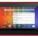 New Original Google Play Android 4.1 Ematic Genesis Prime 4GB HD Multimedia Tablet - Red