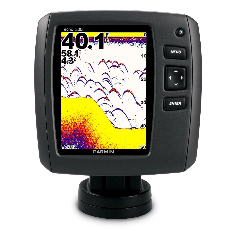 Garmin Echo 500c Color Fishfinder w/ HI-ID + Dual Beam Transducer NEW!
