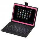"7"" Capacitive Pink Tablet PC Android 4.0 4GB A13 1.2GHz Bundle Keyboard&Earphone"