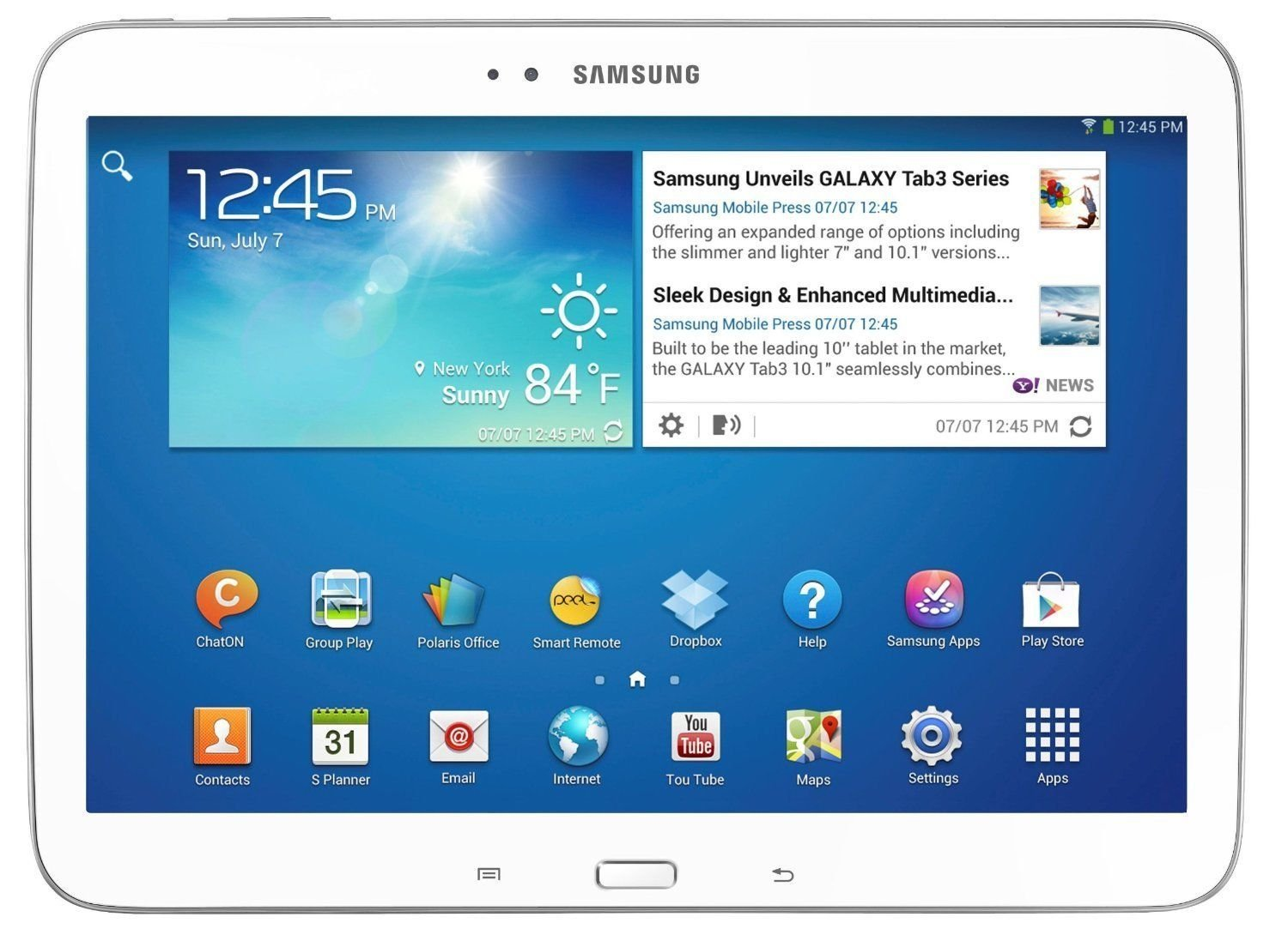"Samsung Galaxy Tab 3 10.1"" GT-P5210 16GB Wi-Fi Tablet Android 4.2 - WHITE"