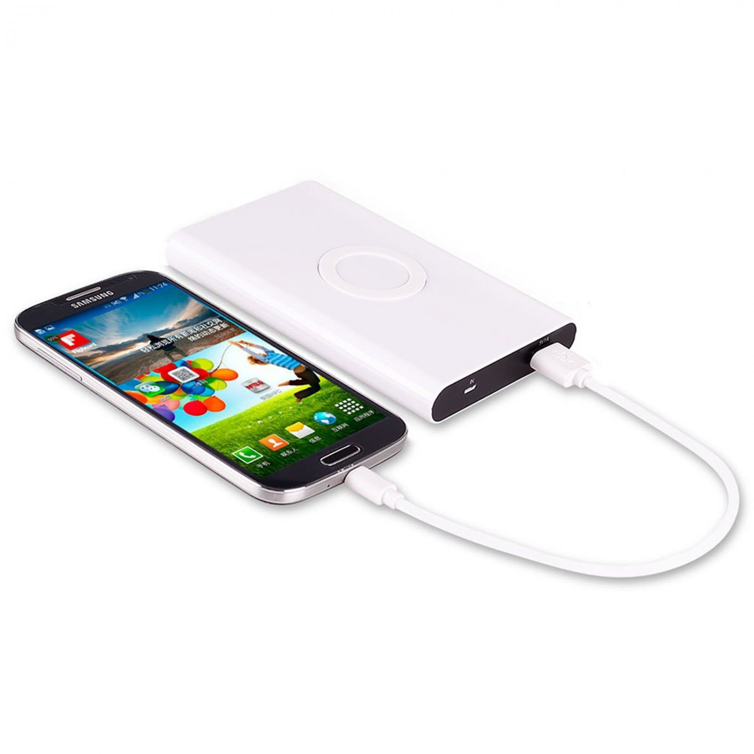 Qi 700 mAh Power Bank Wireless Charger Pad + Receiver for Samsung S3 S4 Note 2/3