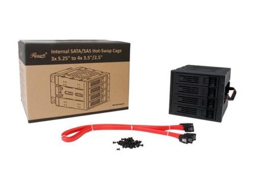 "Rosewill RSV-SATA-Cage-34 Black 3x5.25"" to 4x3.5"" Hot-swap SATAIII/SAS Hard Disk"