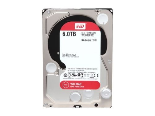 WD NAS Hard Drive WD60EFRX 6TB IntelliPower 64MB Cache