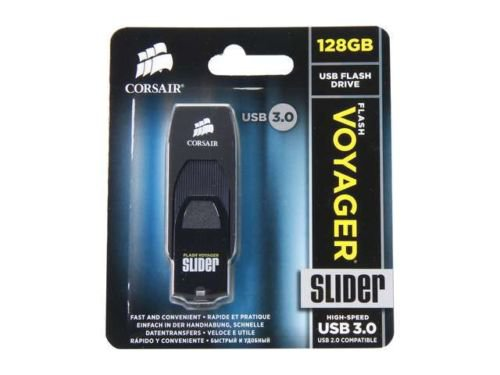 CORSAIR Voyager Slider 128GB USB 3.0 Flash Drive Model CMFSL3B-128GB