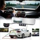 "DV700 4.3"" Rear View Mirror Dual Lens Car Cam G-sensor Car Allwinne DVR Recorder"