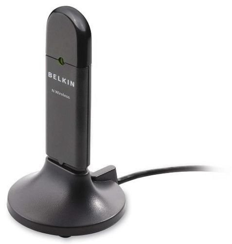 BELKIN 802.11n g Wireless N USB Network WiFi LAN Adapter F5D8053 with USB stand