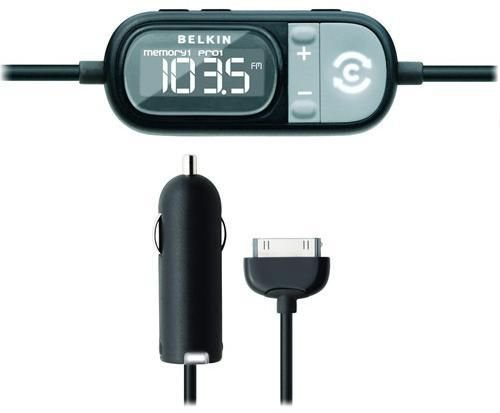 BELKIN FM ClearScan Transmitter + Charger for iPod Touch Classic Nano F8Z182