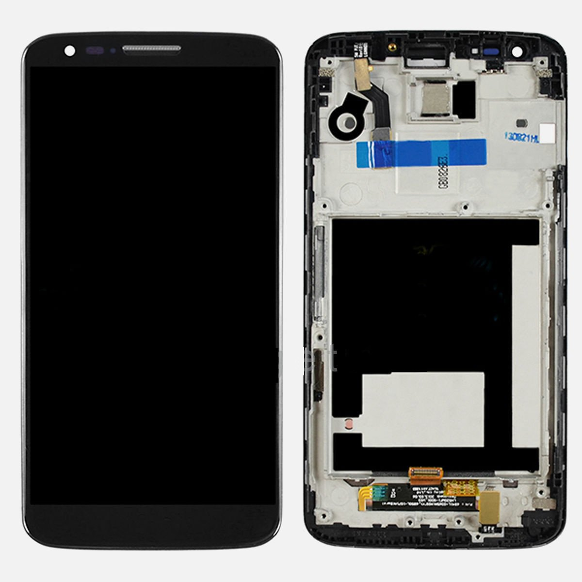 New OEM LG G2 D800 D801 LCD Screen Display Digitizer Touch Glass + Frame Bezel Assembly