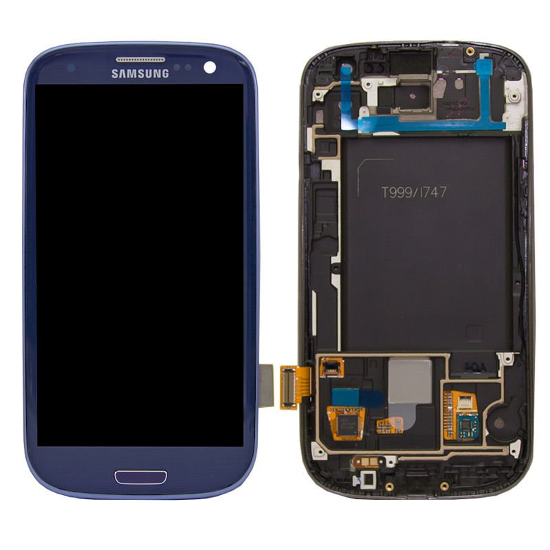OEM LCD Touch Screen Digitizer With Frame For Samsung Galaxy S3 T999 I747 - Blue