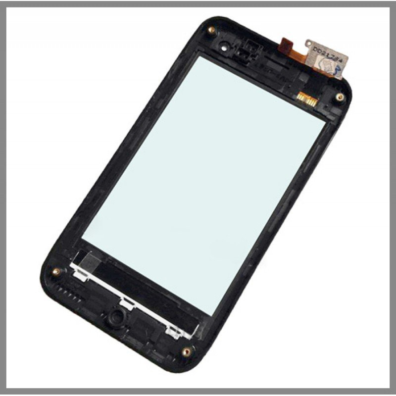 New LG Motion 4G MS770 Front Faceplate Frame + Touch Glass Digitizer Screen OEM