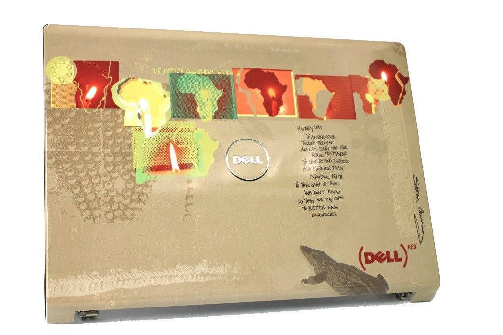 Dell Studio 1735 1737 LCD Back Cover & Hinges - 32GM5LCWIP0 R104K 0R104K