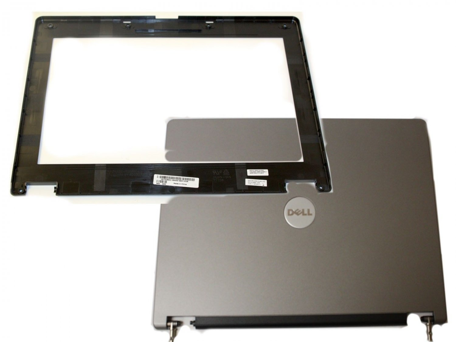 """Dell Inspiron B130 14.1"""" LCD Back Cover w/ Hinges and Front Bezel MD542 U8901"""