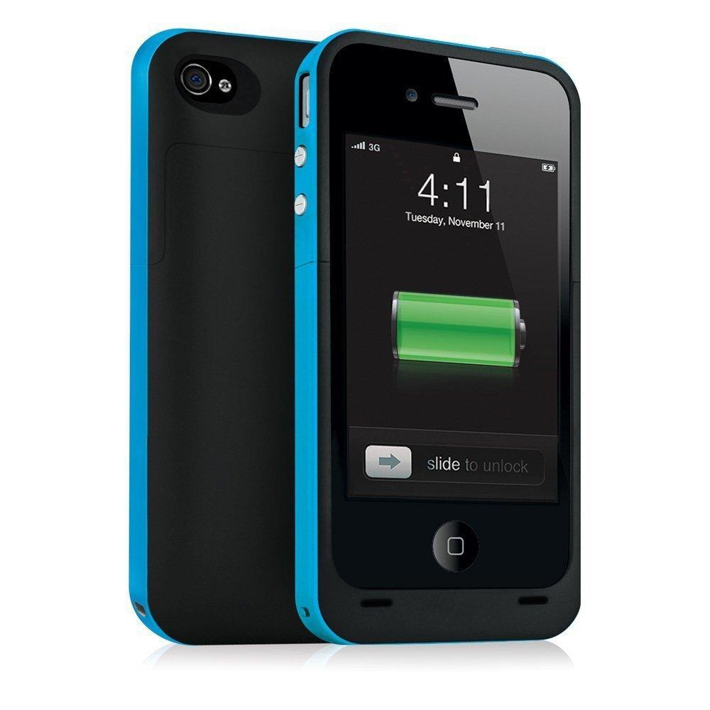 Blue iPhone 5 5S 2500mAh Portable External Backup Power Battery Charging Case