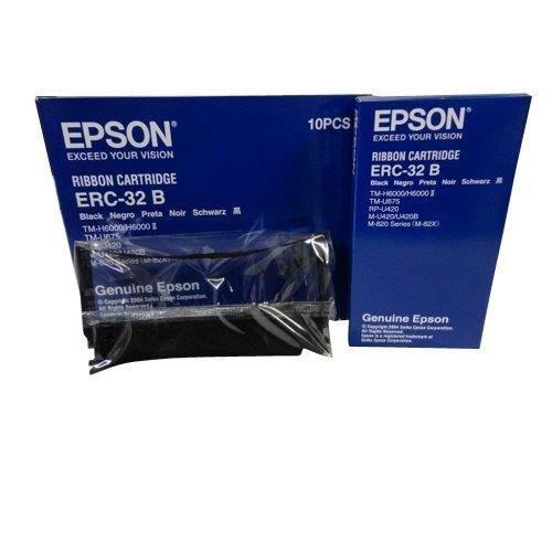 New Genuine Epson ERC-32 B Black Printer Ribbon Cartridges 10PCS C43S015371