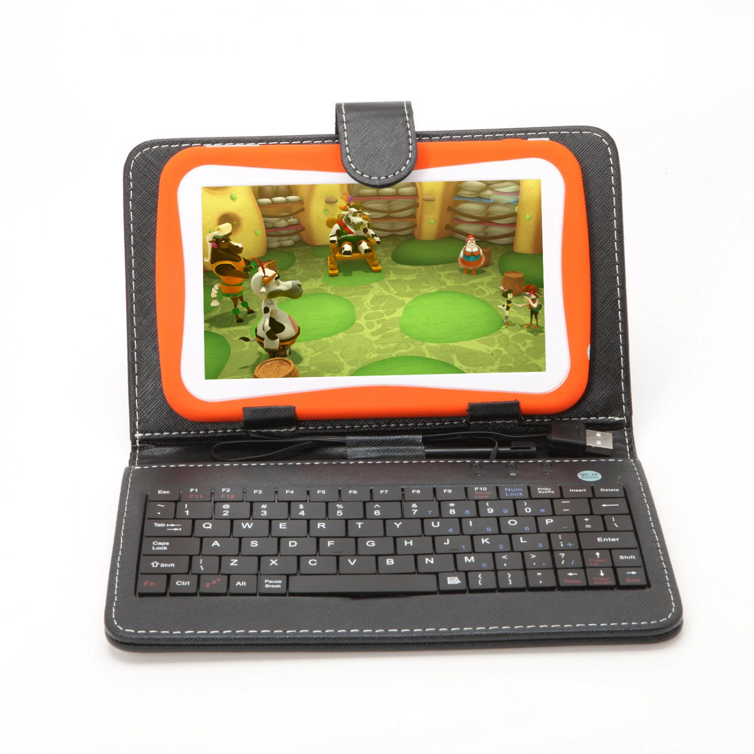 """iRulu 7"""" Google Tablet Android 4.0 for Kids A13 1.2GHz Dual Camera w/ Keyboard"""