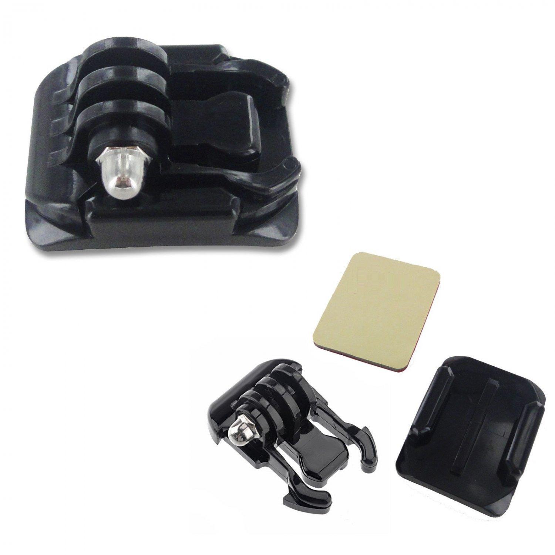 Helmet Curved Surface Mount Holder 3M VHB Sticker Adhesive For GoPro Hero 4 3+ 2