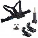 Adjustable Chest Body Harness Belt Strap Mount Buckle For Gopro Hero 4/3+ Camera