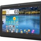 "iRulu 7"" New Google Android 4.2 Jelly Bean Black Tablet PC Dual Camera 8GB WiFi"