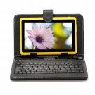 "IRULU eXpro X1 Yellow 7"" Tablet PC Android 4.2 Dual Core 8GB w/ Black Keyboard"