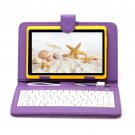 "IRULU eXpro X1 Yellow 7"" Tablet PC Android 4.2 Dual Core 8GB w/ Violet Keyboard"