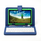 """IRULU eXpro X1 Green 7"""" Tablet PC Android 4.2 Dual Core 8GB w/ Blue Keyboard"""