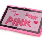 "IRULU eXpro X1a 7"" Pink Tablet PC Google Android 4.4 16GB Quad Core Dual cam"