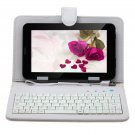 """IRULU 7"""" Tablet PC Android 4.2 2G GSM Phablet 8GB WiFi Dual Cam w/White Keyboard"""