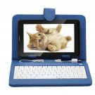 """IRULU 7"""" Tablet PC Android 4.2 2G GSM Phablet 32GB WiFi Dual Cam w/Blue Keyboard"""