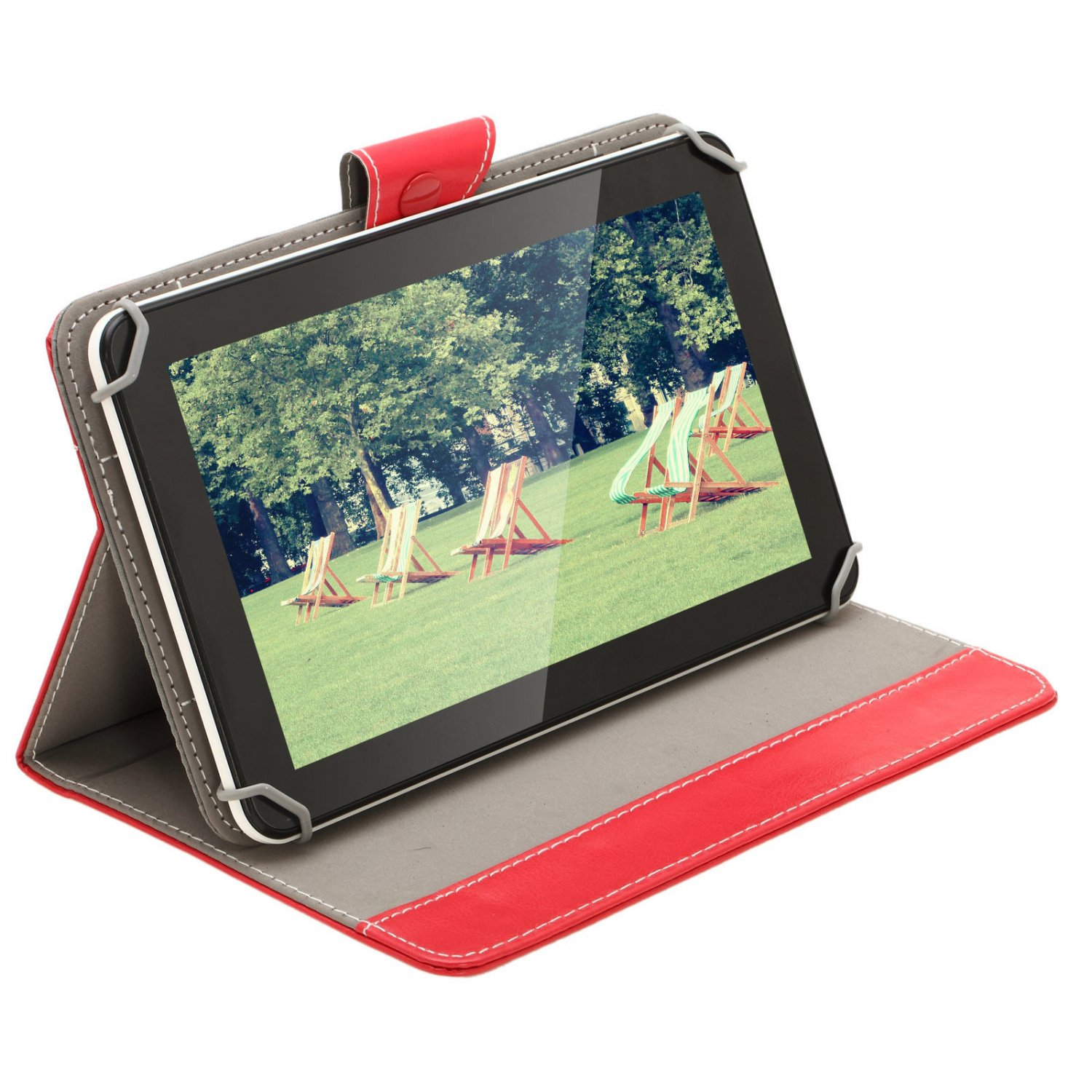"""IRULU 9"""" Tablet PC 16GB Android 4.2 Dual Core/Camera 800x480 WiFi w/RED Case"""