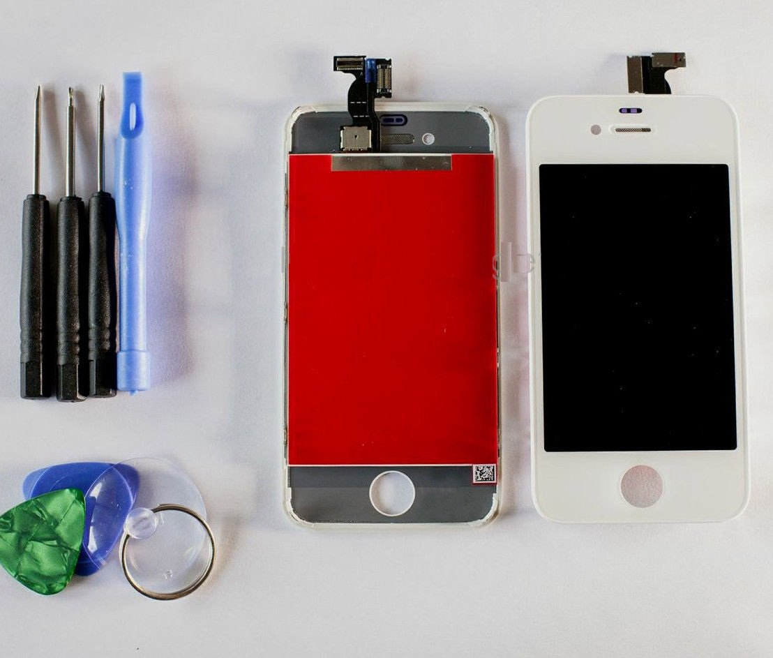NEW iPhone 4 Sprint/Verizon CDMA LCD Touch Screen Digitizer Assembly White+Tools