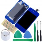 iPhone 4 GSM Touch Screen LCD Display Digitizer Assembly Kit+Back Dark Blue Colour