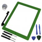 Touch Screen Glass Lens Digitizer Home Button Green Assembly for iPad 3 3rd Gen