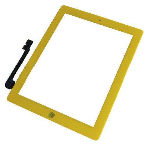 iPad 3 3rd Gen Touch Screen Glass Lens Digitizer Home Button Yellow Assembly