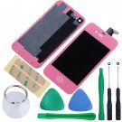 iPhone 4 GSM Touch Screen LCD Display Digitizer Assembly Kit+Back Pink Colour
