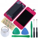 iPhone 4S Touch Screen LCD Display Digitizer Assembly Kit+Back Hot Pink Colour
