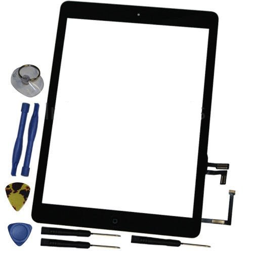 New iPad Air + Tools Black Touch Screen Glass Lens Home Button Assembly