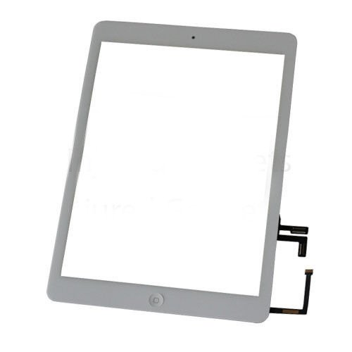 New White Touch Screen Glass Lens Home Button Assembly For New iPad Air