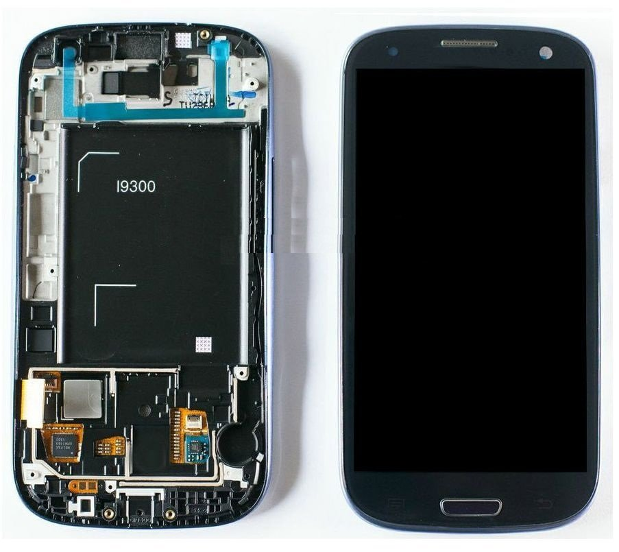NEW Blue LCD Touch Screen Digitizer Frame Assembly for Samsung Galaxy S3 i9300