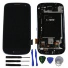 New Blue LCD Screen Digitizer Assembly Frame For Samsung Galaxy S3 L710 W/Tools