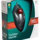 New Logitech TrackMan MarbleTrackball Mouse for PC & Mac - 910-000806