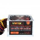 New Viotek Power Supply 20/24 Pin  550W 20+4 pin 120mm Fan ATX PSU w SATA & PCI-E