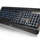 AZIO USB Keyboard  KB505U Large Print Tri-Color Illuminated W/ Red Blue or Purple