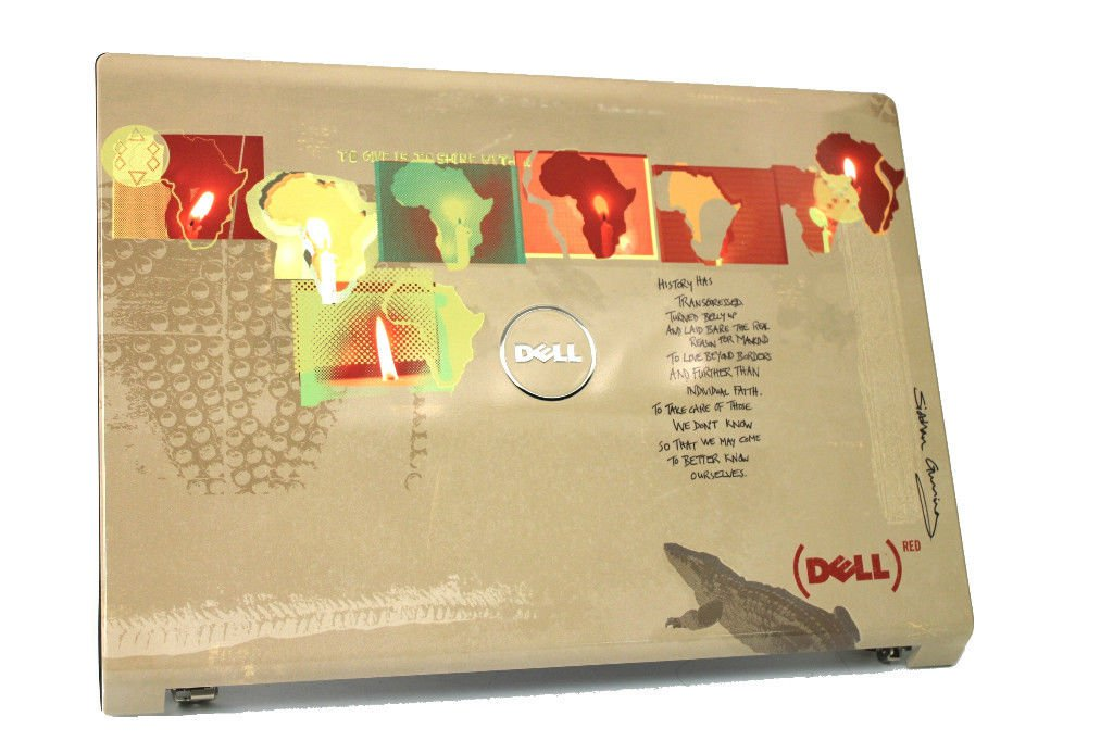 New Dell Studio 1735 1737 LCD Back Cover & Hinges - R104K 32GM5LCWIP0