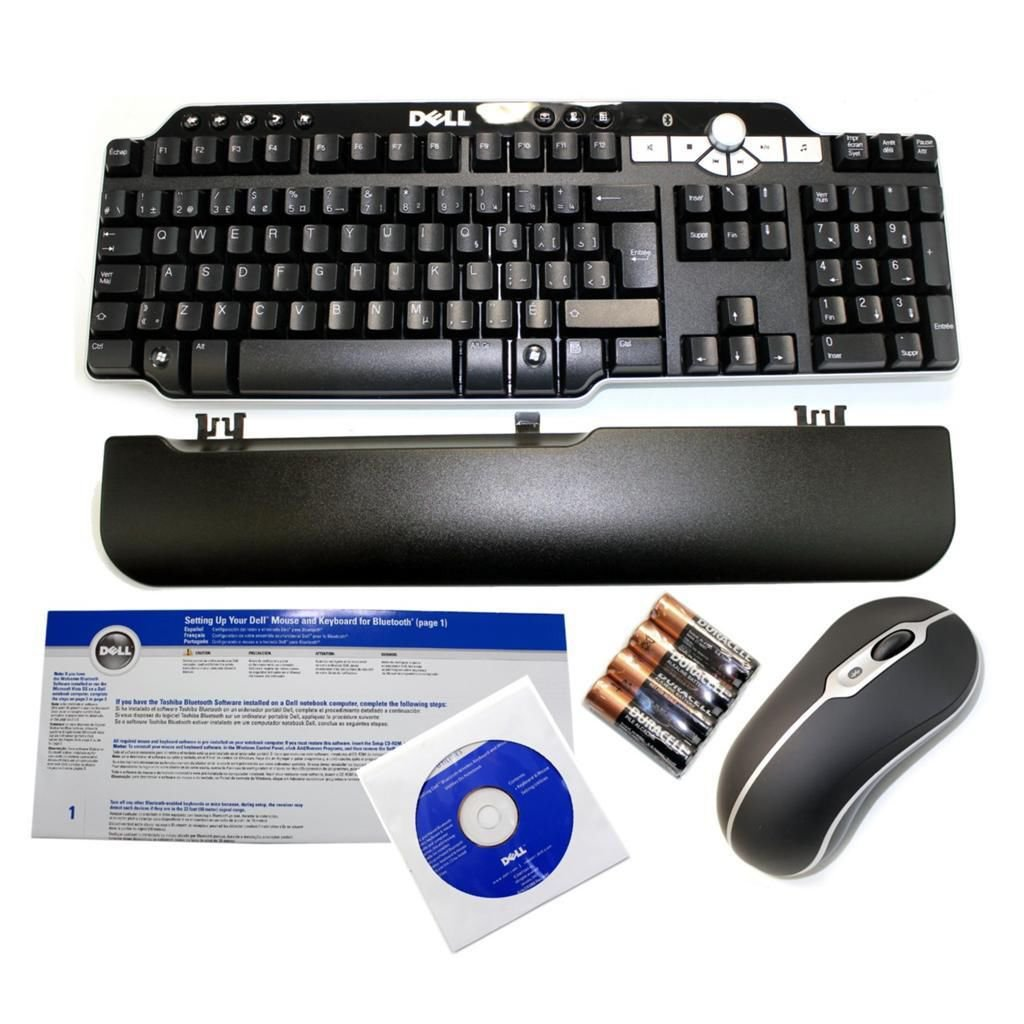 New Dell FRENCH Bluetooth Multimedia Keyboard & Mouse Kit - DR988, UN733, GM941