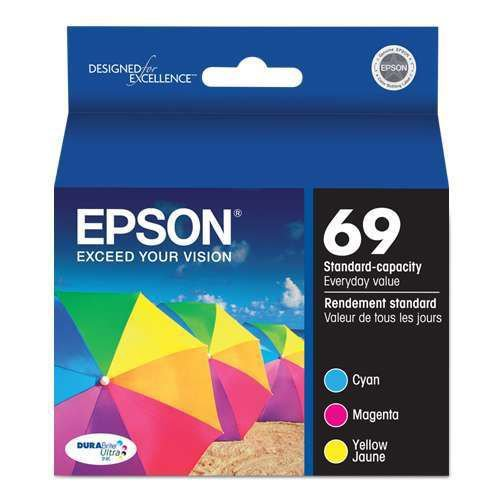 Epson 69 T069520 Durabrite Ultra-Ink Value Multipack (Cyan, Magenta, Yellow)