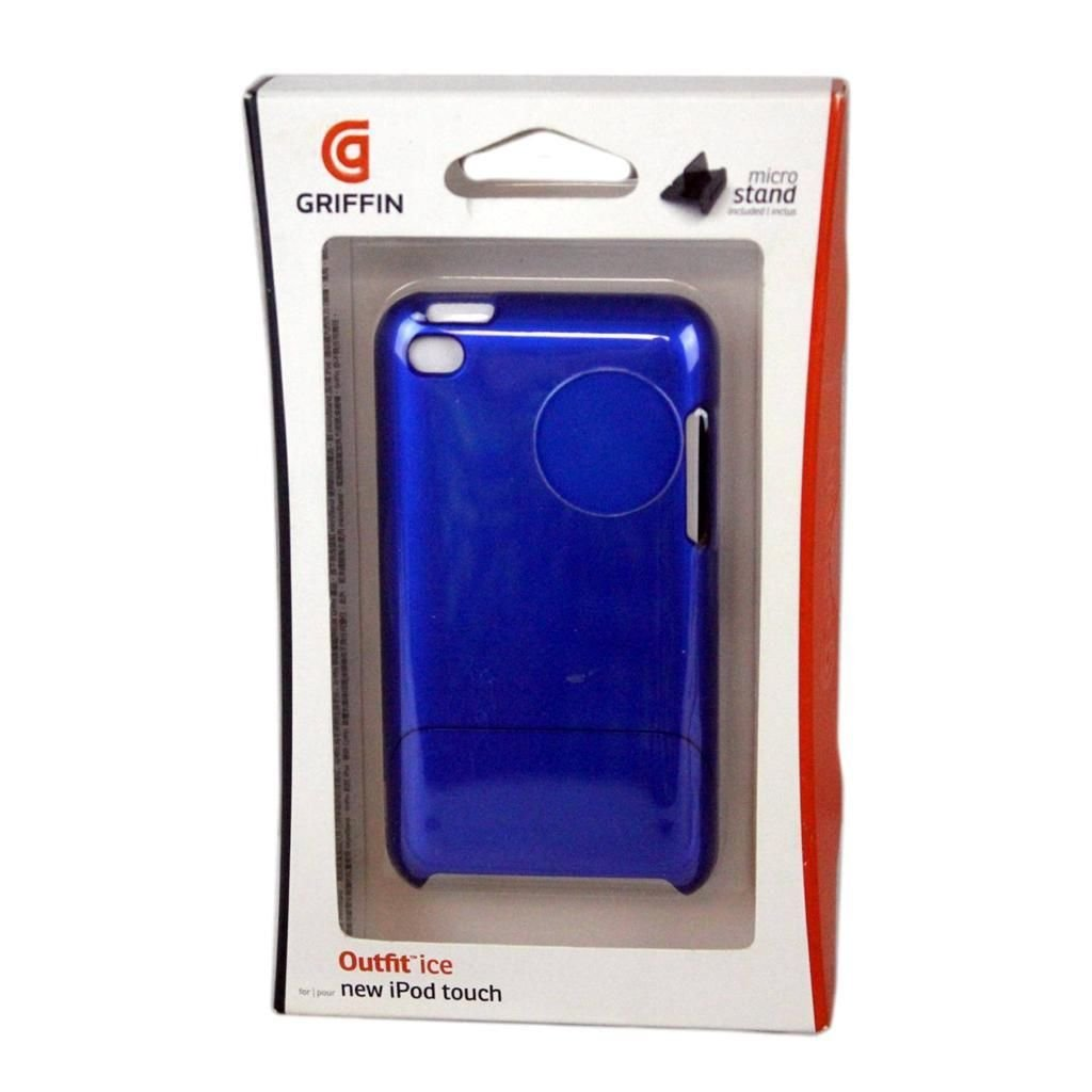 New Griffin Outfit Ice Hard Shell Case Blue for 4th Gen iPod Touch GB01910