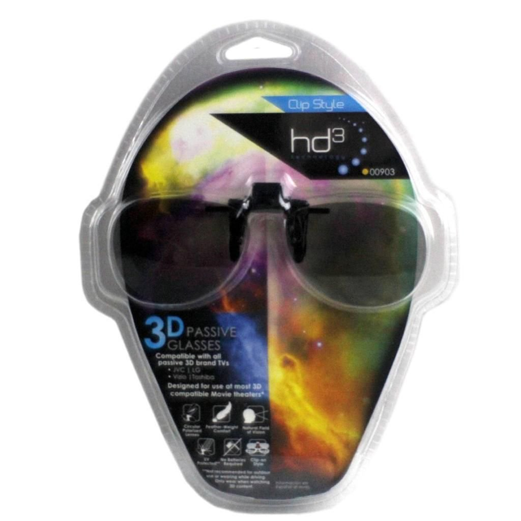 NEW Jasco HD3 Technology 3D Passive Glasses Clip Style for LG - 903