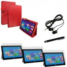 Microsoft Surface Pro 2 / Pro Flip Folio Red Leather Cover Accessories