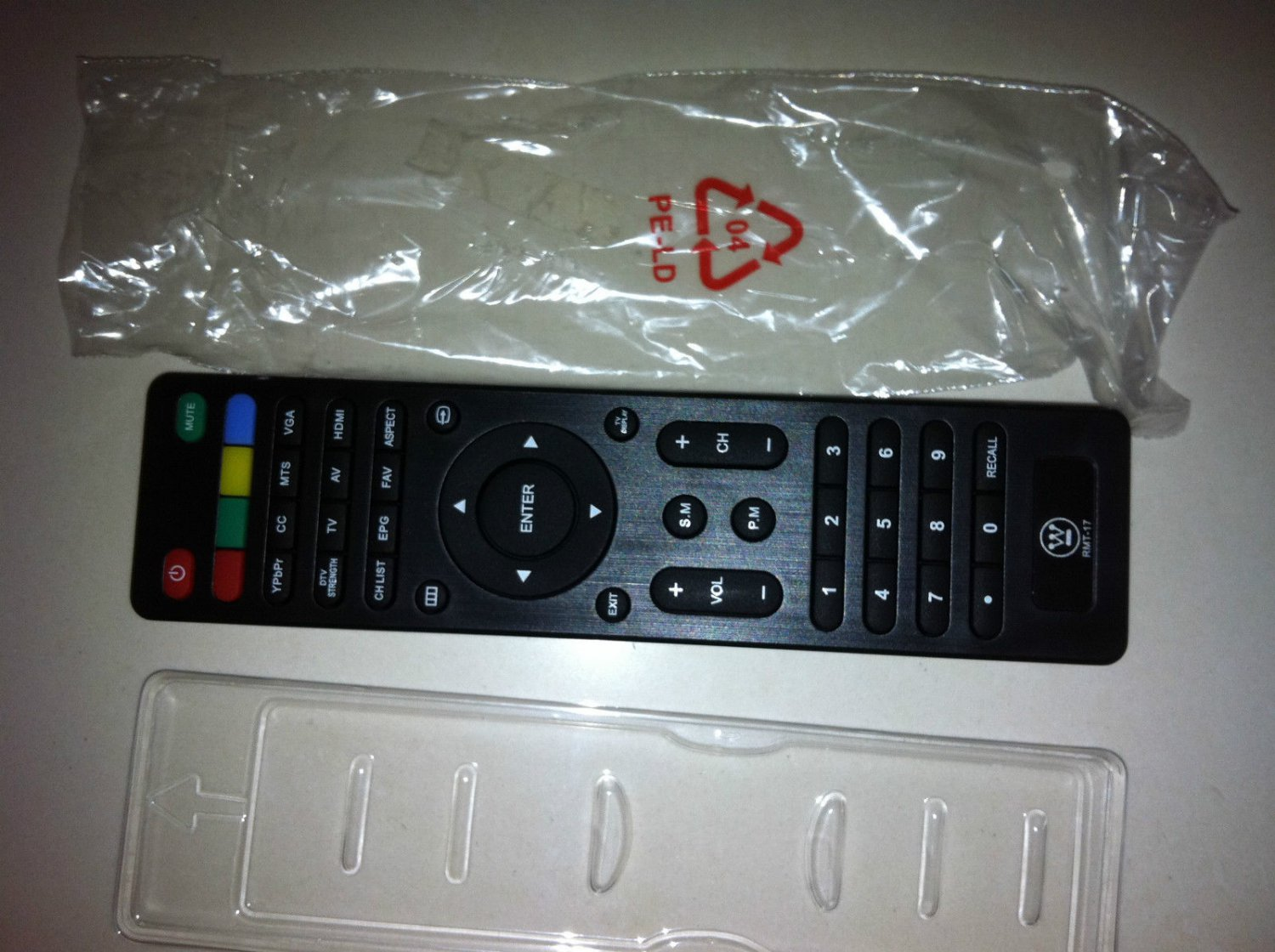 New Westinghouse RMT17 rmt-17 Remote for VR3215 VR2418 EW24T3LW EW24T7EW TV