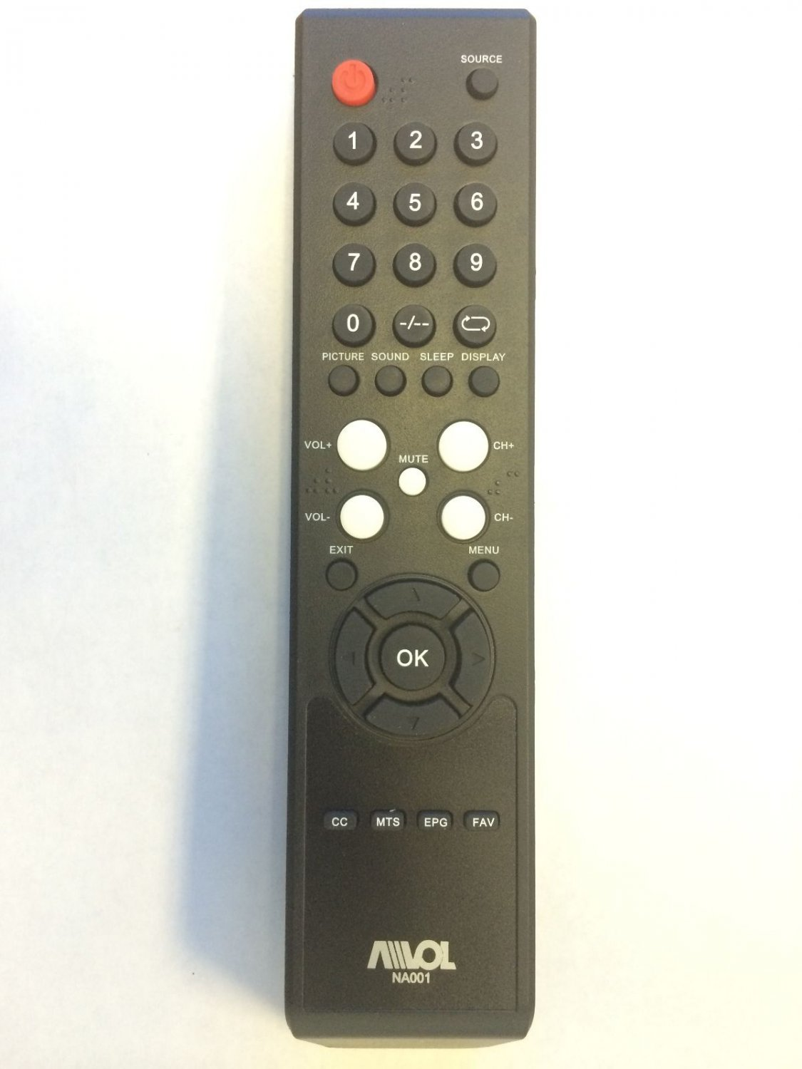 Original New Avol TV Remote Control NA001